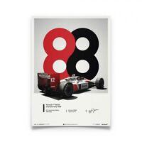 Ayrton Senna 1988 Mclaren MP4/4 Poster