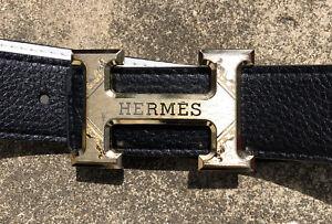 AUTHENTIC HERMES BELT  REVERSIBLE BLACK/WHITE BELT Authentic Gold Color.