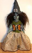OOAK Wicked Witch Porcelain Doll Toadskin Tina Light up Head Halloween Creepy!