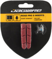 Jagwire Road Pro S Brake Pad Inserts for Wet Conditions SRAM/Shimano, Red