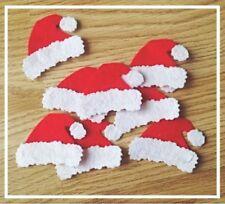 Feutre Bonnet de Père Noël. Pack De 8 Noël Craft Embellissement Die Cut