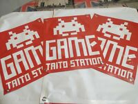 (3)Small GAME TAITO STATION (Arcade BANNER) 16x20in