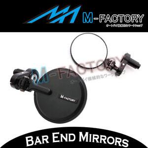 For Kawasaki ZX-6R Ninja 07 08 09 10 11-14 Black CNC Folding Bar Ends Mirrors
