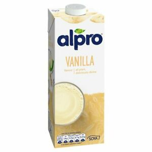 8 x Alpro Vanilla Soya Milk Plant-Base Vegan Lactose Free Low Fat
