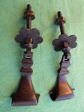 2 pendeloques rosaces fer tiroirs meuble hauteur 6 cm occasion