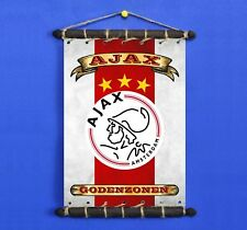 AFC AJAX FLAG W/ LOGO, Nickname SET 5in1: Banner Sticker Pennant Postcard Magnet