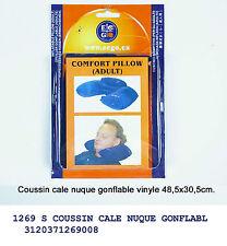 Cuscino poggiatesta gonfiabile in vinyle relax viaggio per adulti
