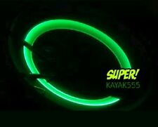 4 X GREEN LED VALVE STEM TIRE LIGHTS CAPS TRICK UR TRUCK VAN ETC.. PIMPED OUT