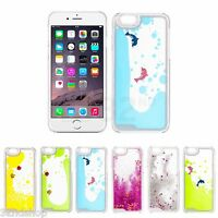 Novelty Transparent Clear Liquid Water Gel Hard Case Cover for Apple iPhone 6 6S