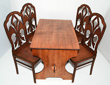 """Furniture for Dolls 1/4 16-18"""" Tonner BJD Cami Bar-Table & 4 chairs"""