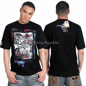 5ive Jungle Mens Black Summer Cotton V Tiger Tee Shirt Hip Hop Time Money Is