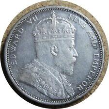 elf Straits Settlements 1 Dollar 1904 B  Silver  Edward VII