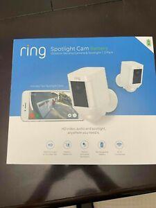 Ring Spotlight Cam Battery Outdoor HD Security Camera & Spotlight 2-Pack