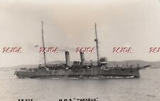 """Royal Navy Real Photo. HMS """"Theseus"""" Cruiser. Imperial War Museum.  WW1. 1916"""
