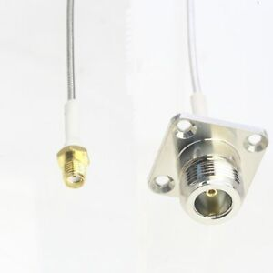 "RF cable N jack 1"" Flange to SMA female RG405 Flexible Semi-Rigid Jumper 4~40"""