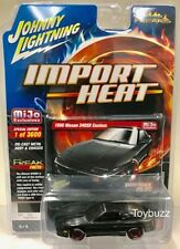 JOHNNY LIGHTNING 1:64 MIJO IMPORT HEAT 1990 NISSAN 240SX CUSTOM JLCP7130 BLACK