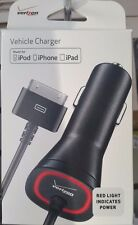 New OEM Verizon MFI Apple Certified 2.1 AMP 30-Pin Car Charger for iPhone 4S / 4