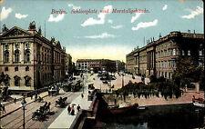Berlin 1912 Schlossplatz Marstallgebäude Strasse Tram Straßenbahn Fuhrwerk uvm.