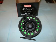 NEW LEEDA # 5/6 FLY FISHING REEL WITH BACKING AND WF 6 FLOATING FLY LINE,