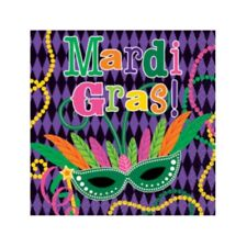 Mardi Gras! Party Paper Napkins, Beverage 16 ct