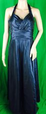 Alyce Designs Long Party Ball Gown Wedding Bridesmaids Evening Dress Blue Sz 10.