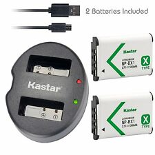 Kastar 2 Battery & Dual USB Charger for Sony NP-BX1 X-SERIES NPBX1/M8