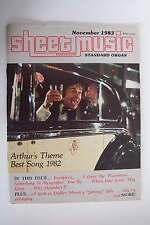 Sheet Music Magazine November 1983 Volume 7 No 8 Arthur's Theme Song Issue Stand