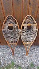 "Vintage Snowshoes Set 41"" Long Hand Made Huron Indians"