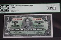 2) CONSECUTIVE BC-21c 1937 $1 BANK OF CANADA BANKNOTES  Rickey Collection
