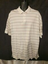 Ping Collection Men's Xl Shirt Off White Striped Mercerized Cotton Golf Polo