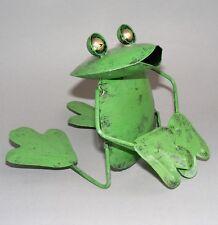 Frosch*Metall*Standfigur*bunt bemalt*Deko*innen*außen*Garten*Balkon*Neu