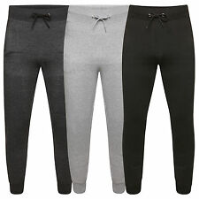 NEW MENS SLIM FIT FLEECE JOGGERS TRACKSUIT CUFFED BOTTOMS SKINNY JOGGING PANTS