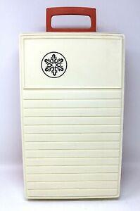 Rubbermaid Sidekick Cooler Styrofoam Liner 1978 Orange/Cream Color