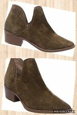 $100 NWOB Steve Madden sz 7 Olive Green Austin Leather Ankle Boots Western