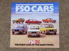 1981 FSO CARS Sales Brochure - 1300 1500 Estate Polonez Pickup - Excellent!