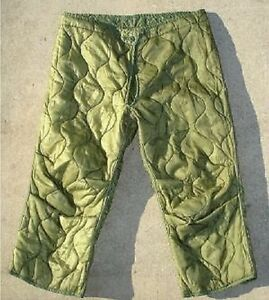 US Army M65 Field Trousers Liner Cold Weather Pants Trousers Og 106 Medium S/R