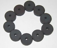"""10 X Refrigerator Disk Magnets with Center Hole - 0.5"""" Diameter - 0.2"""" Thick"""
