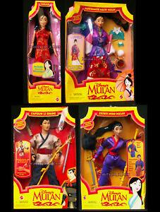 "Matchmaker Magic Mulan Doll Secret Hero Message Captain Li Shang Disney"" Lot 4 V"