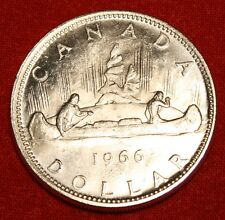1966 CANADA DOLLAR AU+ 80% SILVER GREAT COLLECTOR COIN GIFT CAD10