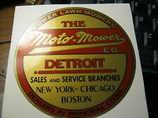 Moto-Mower decal for early Detroit mowers set of two