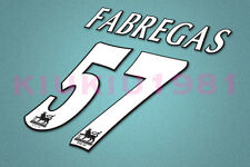 Arsenal Fabregas #57 PREMIER LEAGUE 97-06 White Name/Number Set