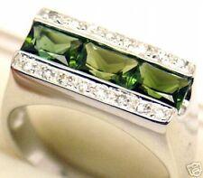 Beautiful Women 14k, 1.4 cts Tourmaline Diamond Ring