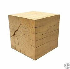 Solid Oak  Cube  500mm  Stool / Plinth / Garden Feature