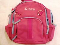 "POTTERY BARN KIDS  PINK FAIRFAX BACKPACK ""KIARA""   NEW"