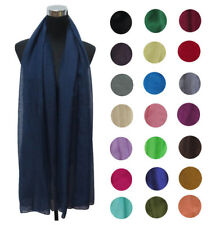Women Maxi 100% Cotton/Viscose Scarf Hijab Shawl