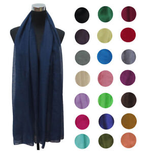 Women Maxi Cotton/Viscose Scarf Hijab Shawl