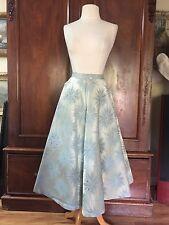 "Vtg Snowflake Star Circle Skirt Beaded Accent Vtg Alex Coleman S/M Waist 25"""
