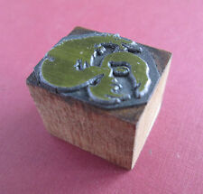 Small Dragon Image 1 by 13/16 Letterpress Printing Block with Wood Base