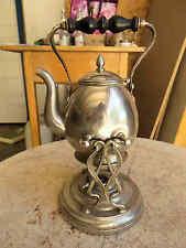 Alte Kaffee Teemaschine mit Ständer Klappdeckel Metall sehr Dekorativ