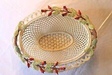 Belleek Weave Basket - With Tulips -